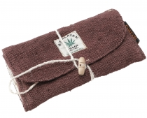 Hemp tobacco pouch, tobacco pouch, swivel pouch - dark brown