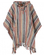 Poncho Hippie chic, Ethno Poncho, Andean Poncho - beige/green