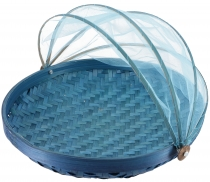 Fly protection fruit basket in 3 sizes - light blue