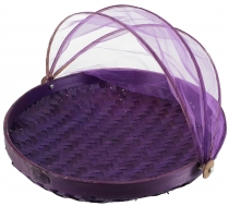 Fly protection fruit basket in 3 sizes - purple