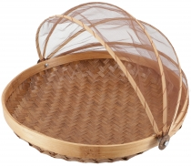 Fly protection fruit basket in 3 sizes - light brown