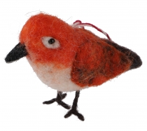 Felt decoration bird, handmade animals from felt, tree hangings -..