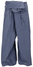Thai fisherman pants in cotton, wrap pants, yoga pants - M/L dove..