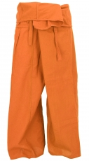 Thai fisherman pants in cotton, wrap pants, yoga pants - M/L rust..