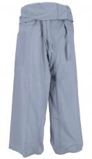 Thai fisherman pants in cotton, wrap pants, yoga pants - M/L grey