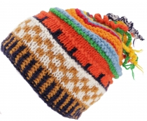 Colorful wool hat with soft lining - colorful