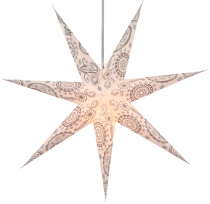 Foldable Advent illuminated paper star, Poinsettia 60 cm - Nubia