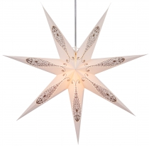 Foldable Advent illuminated paper star, Poinsettia 80 cm - Dodoni..