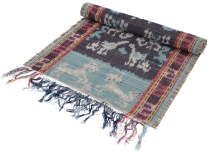 Exotic Ikat table runner, wall hanging - 44*145 cm coloured
