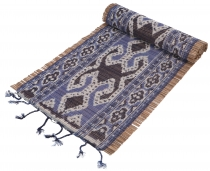 Exotic Ikat table runner, wall hanging - 31*170 cm - blue