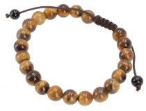 Mala Buddha Bracelet Tiger Eye, Hand Mala - Model 22