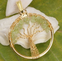 Tree of life amulet, golden pendant `Tree of life` - Prenith