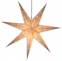 Foldable Advent illuminated paper star, poinsettia 60 cm - Osiris..