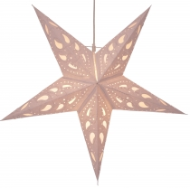 Foldable Advent illuminated paper star, Poinsettia 60 cm - Durian..