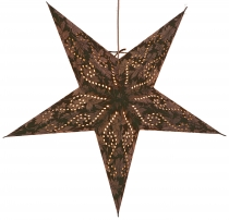 Foldable Advent illuminated paper star, Poinsettia 60 cm - Cassio..