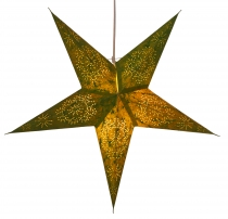 Foldable Advent illuminated paper star, Poinsettia 60 cm - Perseu..