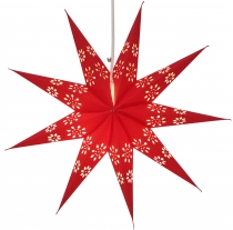 Foldable Advent illuminated paper star, Poinsettia 40 cm - Phoeni..
