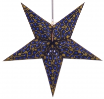 Foldable Advent Starlight Paper Star, Christmas Star Luna - blue