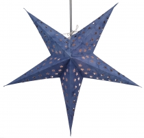 Foldable Advent Starlight Paper Star, Christmas Star Astor - blue