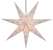 Foldable Advent illuminated paper star, Poinsettia 60 cm - Orpheu..