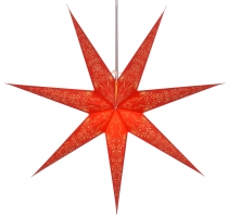 Foldable Advent illuminated paper star, Poinsettia 80 cm - Raja r..