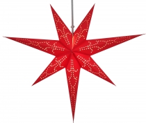 Foldable Advent illuminated paper star, Poinsettia 60 cm - Levi