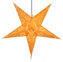 Foldable Advent illuminated paper star, Poinsettia 60 cm - Adonis..