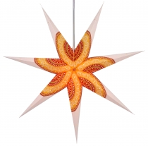 Foldable Advent illuminated paper star, Poinsettia 80 cm - Helike..