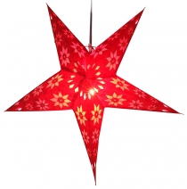 Foldable Advent Starlight Paper Star, Christmas Star Adonis - red
