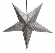 Foldable Advent illuminated paper star, Poinsettia 60 cm - Cesara