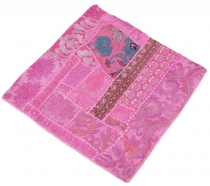 Patchwork cushion cover, decorative cushion cover in Rajasthan, u..