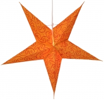 Foldable Advent illuminated paper star, Poinsettia 60 cm - Mercur..