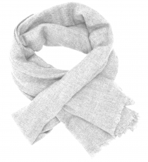 Fine wool scarf, super soft scarf - light grey