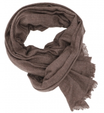 Fine woolen scarf, super soft scarf - brown