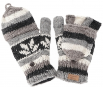 Gloves, hand knitted folding gloves, finger gloves - Model 5