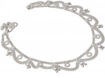 Indian anklet, oriental white metal anklet - Model 8
