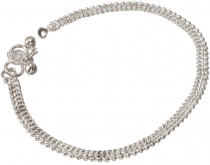 Indian anklet, oriental white metal anklet - Model 7