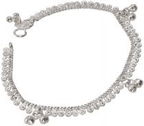 Indian anklet, oriental white metal anklet - Model 13