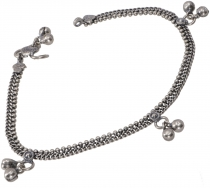 Indian anklet, oriental white metal anklet - Model 1