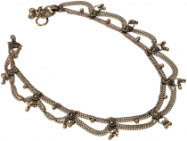 Indian anklet, gold oriental anklet - Model 3