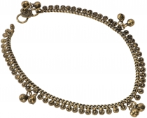 Indian anklet, gold oriental anklet - Model 1