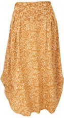 Changeable maxi skirt, comfortable boho summer skirt - mustard ye..
