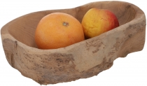 Small fruit bowl, wooden bowl Decoration object made of burl wood..