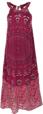 Long Boho summer dress, indian maxi dress - light burgundy