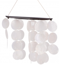 Long shell wind chime, sound play - white