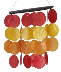 Long shell wind chime, sound play - summer colours