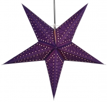 Foldable Advent illuminated paper star, Poinsettia 60 cm - Marate..