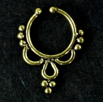 Fake Septum Ring, Nose Ring, Nose Piercing, Earring