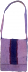 felt bag in retrostyle - lilac