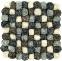 Felt coaster, square - grey 10*10 cm